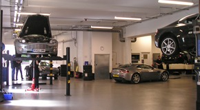 HWM Aston Martin - Workshop, parts store and offices refurbishment - Walton on Thames, Surrey